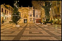 Place Crillion at night. Avignon, Provence, France (color)