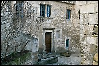 Stone townhouse, Les Baux-de-Provence. Provence, France (color)