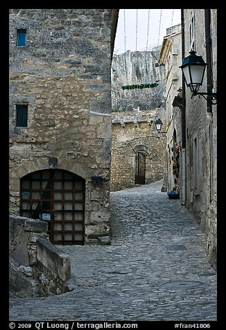 Stone streets and houses, Les Baux-de-Provence. Provence, France (color)
