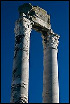 Ruined columns of the antique theatre. Arles, Provence, France