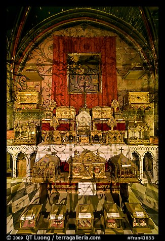 Relics, Saint Trophime church. Arles, Provence, France (color)