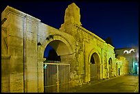 Roman theatre at night. Arles, Provence, France