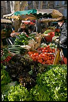 Vegetable stall, open-air market. Aix-en-Provence, France (color)