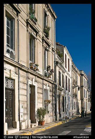 Old townhouses. Arles, Provence, France (color)