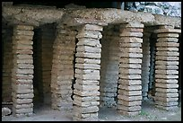 Brick pilars in baths of Constantine. Arles, Provence, France