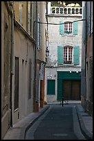 Narrow street in old town. Arles, Provence, France ( color)