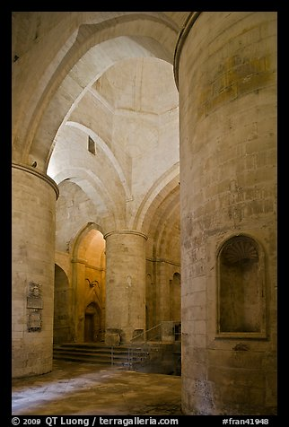 Interior of Saint Honoratus church, Alyscamps. Arles, Provence, France (color)