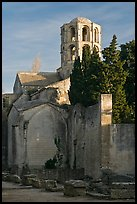 Romanesque Church of Saint Honoratus, Alyscamps. Arles, Provence, France (color)