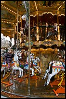 Old carousel. Avignon, Provence, France ( color)