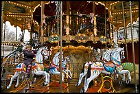 Girl on merry-go-round. Avignon, Provence, France ( color)