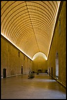 Room with vaulted ceilling, Palace of the Popes. Avignon, Provence, France ( color)