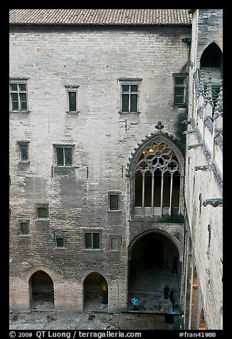 Inside the Palais des Papes. Avignon, Provence, France (color)