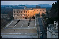 Petit Palais and plazza seen from Papal Palace. Avignon, Provence, France ( color)