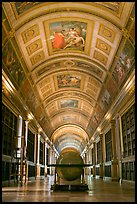 Library, palace of Fontainebleau. France (color)