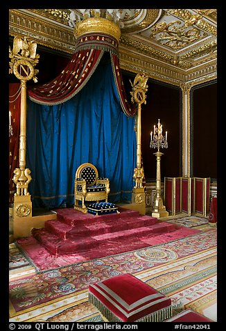Throne room, Palace of Fontainebleau. France (color)