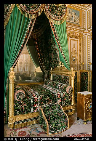 Emperor's room, Fontainebleau Palace. France (color)