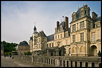 Palace of Fontainebleau, late afternoon. France (color)