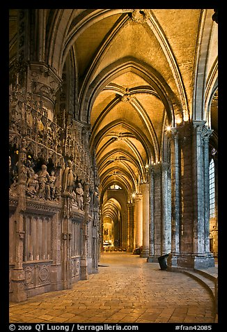 Sanctuary and Ambulatory, Cathedral of Our Lady of Chartres,. France (color)