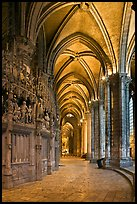 Sanctuary and Ambulatory, Cathedral of Our Lady of Chartres,. France