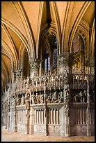 Sanctuary and vaults, Cathedral of Our Lady of Chartres,. France