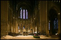 Altar and apse with clerestory windows, Cathedral of Our Lady of Chartres. France