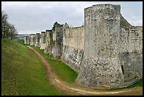 Ramparts, Provins. France (color)