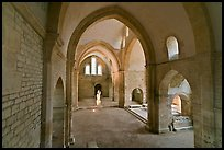 Church transept, Cistercian Abbey of Fontenay. Burgundy, France ( color)
