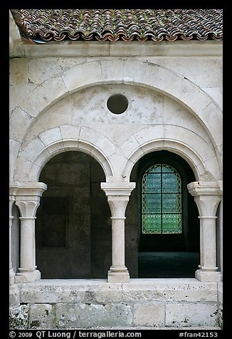 Arches, common room, Fontenay Abbey. Burgundy, France (color)