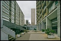 High-rise residential towers, Olympiades. Paris, France (color)