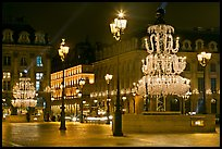 Christmas lights on  Place Vendome. Paris, France (color)