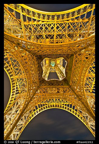 Eiffel Tower structure from below. Paris, France (color)