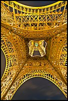 Eiffel Tower structure from below. Paris, France ( color)
