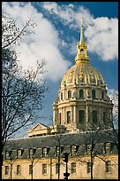 Ecole Militaire and Dome of the Invalides. Paris, France