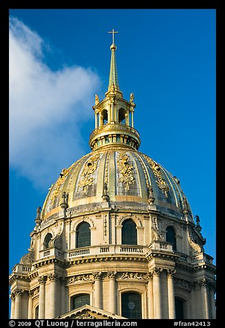 Picture Photo Baroque Dome Church Of The Invalides Paris