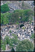 Aerial view of Montparnasse Cemetery. Paris, France (color)