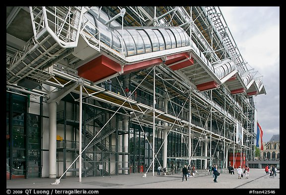 Picture  Photo  Beaubourg Center In The Style Of High