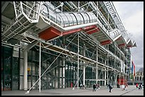 Beaubourg Center in the style of high-tech architecture. Paris, France (color)