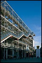 Beaubourg center and National Museum of Modern Art. Paris, France (color)
