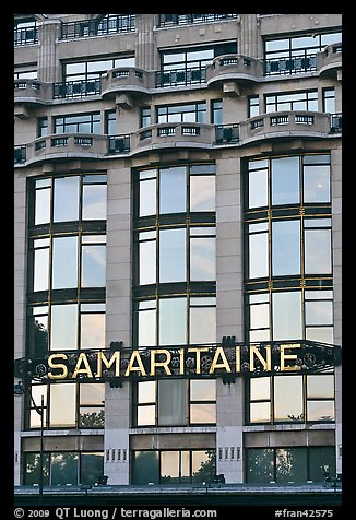 Samaritaine department store facade. Paris, France (color)