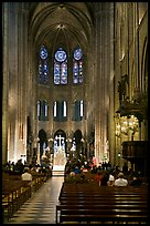View of Choir during Mass, Notre-Dame. Paris, France (color)