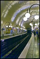 Glistening metro station. Paris, France (color)