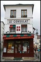 Le Consulat Restaurant, Montmartre. Paris, France