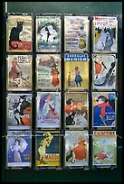 Reproduction of vintage advertising posters, Montmartre. Paris, France (color)
