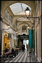 Covered passage between streets. Paris, France (color)