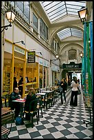 Eatery in covered passage. Paris, France (color)