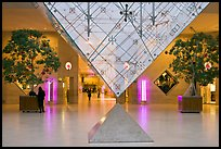 Inverted pyramid and shopping mall under the Louvre. Paris, France