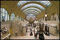 Orsay Museum, housed in the former railway station, Gare d'Orsay. Paris, France (color)