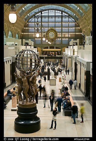 Inside the Orsay museum. Paris, France (color)
