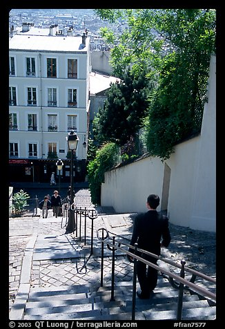 Staircase, Montmartre. Paris, France (color)