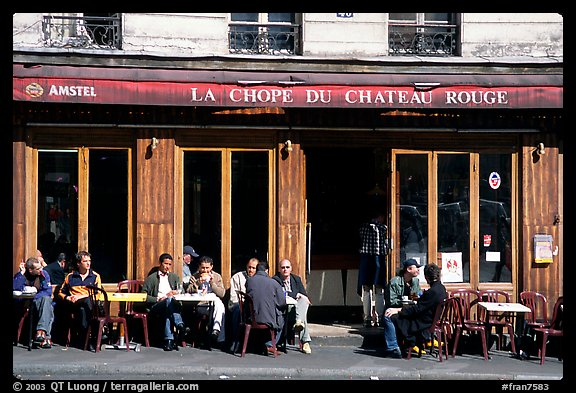 Cafe, Montmartre. Paris, France (color)